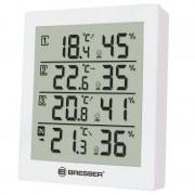 Statie meteo Bresser, termometru, higrometru, ecran digital, 3 senzori externi