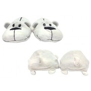 FlipaZoo SlipaZoos by Jay at Play (Husky to Polar/ Small) - Transforming Animal Slippers are Two Pairs in One Plush Comfort for Your Feet and Twice The Fun for Kids and Adults