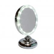 Espejo de aumento iluminado con leds y apoyo articulado