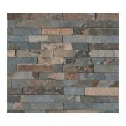 Tapet vlies model cărămidă clicher gri/albastru 10,05x0,53 m