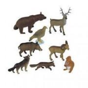 Set Miniland 8 Figurine Animale din Padure