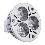 3W GU5.3 (MR16) LED-spotlampen MR16 3 Krachtige LED 260-300 lm Natuurlijk wit 6000K K DC 12 V
