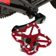 Sola Bicicleta De Carretera A Pedales Clipless De Plateadoforma Universal De Adaptador Para Bicicleta MTB Shoes, Size: Large (rojo)