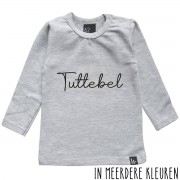 Babystyling Tuttebel longsleeve shirt 80 Grijs/Zwart
