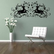 Two Deers with a swirls as wall sticker.