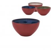 Xenos Schaal terra cotta - diverse kleuren - ø14 cm