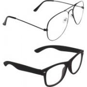 Zyaden Aviator, Wayfarer Sunglasses(Clear, Clear)
