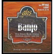 GHS Strings PF150 5-String Banjo Strings Phosphor Bronze Light (.010-.022)