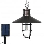 Luxform Соларна LED градинска лампа Caledon, тъмен бронз, 34112