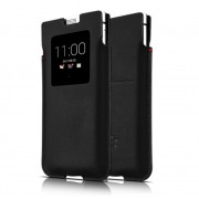 Blackberry Leather Smart Pocket PKB100-3AALWE1 - оригинален калъф от естествена кожа за BlackBerry KeyOne (черен)