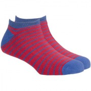 Soxytoes Sport Stripe Thin Red Cotton Ankle Length Pack of 1 Pair Striped for Men Athletic Sports Socks (STS0031C)
