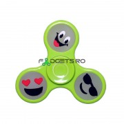 Fidget Spinner Fosforescent Smiley Verde
