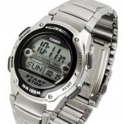 Reloj Casio W-756d Grafo Pila 10 1a-Plateado Con Negro