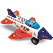 Houten vliegtuig bouwpakket met verf en stickers