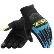 Dainese Bora Gloves Black/Fire Blue/Fluo Yellow M