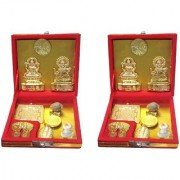 only4you Kuber Laxmi Dhanvarsha Yantra for Festival - Set of 2 Pieces