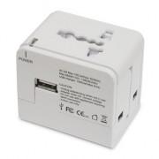 Travel Adapter, Macally Universal - захранване за ел. мрежа с USB изход и преходници за цял свят (22267)