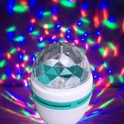 360 Degree LED Crystal Rotating Bulb Magic Disco LED Light LED Rotating Bulb Light Lamp for Party/Home/Diwali Decoration