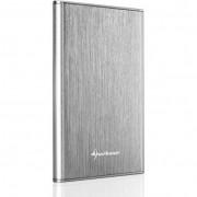 """Sharkoon Rapid-Case 2.5"""" USB3.1 Type C külsõ HDD ház - ezüst"""