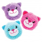 Baker Ross Squuezy Cat Plushies - 3 Assorted Soft Toys. Plush Stuffed Toys. Kids Party Bag Fillers. Size 7cm.