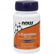 Л-Карнитин - L-Carnitine 500 мг. - 30 капсули - NOW FOODS, NF0070