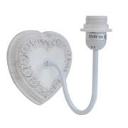 Clayre & Eef 6LMP367 Falikaros lámpatest szív alakú,virágos,21x16x20cm