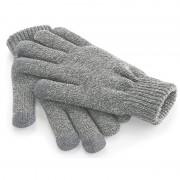 Geen Touchscreen handschoenen lichtgrijs