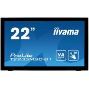IIYAMA ProLite T2235MSC-B1 Monitor Led 22 touchscreen 1920 x 1080 Full HD VA 3000:1 6 ms DVI-D, VGA, DisplayPort altoparlanti nero