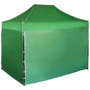 Rýchlorozkladací nožnicový stan 2x3m - oceľový, Zelená, 4 bočné plachty