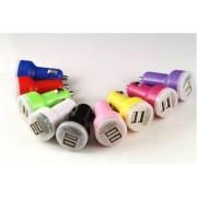 James Zhou Universal billaddare med 2 USB utgångar i olika färger! (Vit)