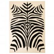 vidaXL bézs/fekete modern szőnyeg zebra mintával 80 x 150 cm
