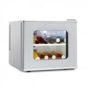 Klarstein Winehouse Minibar 17 Liter 60 W Klass A++ 38 dB Glasdörr silver