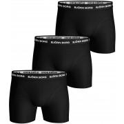 Bjorn Borg Shorts Solid Stretch 3er Pack Black - Schwarz Größe M