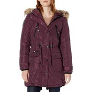 CANADA WEATHER GEAR Parka para Mujer, Cinched Waist Cranberry, M