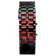 True choice Samurai Led Black Steel Watch - Unisex