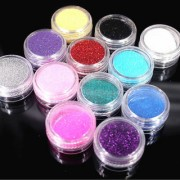 ANY 6 Colorful Glitter Nail Art Dust Tool Kit Gem Polish Nail Tools 3D Nail Art Decorations Nail Glitter Powder 2017