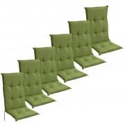 vidaXL Jastučići za vrtno sjedalo 6 kom 117x49 cm Zeleni