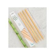 Pai din bambus pentru baut, set 4 bucati
