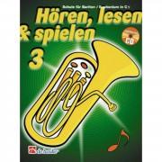 De Haske Hören, lesen, spielen, Band 3 Bariton/Euph. in C, Buch & CD