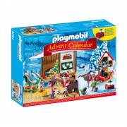 Playmobil Advent Calendar 'Santa's Workshop' with Electronic Lantern (9264)