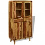 vidaXL Dressoir 90x40x175 cm sheesham hout