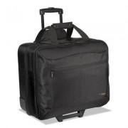 Citygear Rolling Travel Laptop Case, Nylon, 18 X 10 X 15, Black/silver