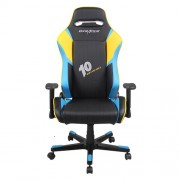 Scaun gaming rotativ DX-Racer DF53/NBY Black Blue Yellow