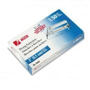"""Premium Two-Piece Paper File Fasteners, 2"""" Cap., 2 3/4"""" Center, Silver, 50/box"""