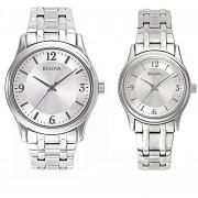 Reloj Bulova Pareja 96A000 H&M 96L005 TIME SQUARE™