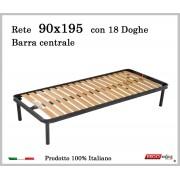 ErgoRelax Rete per materasso a 18 doghe in faggio Con Barra Centrale 90x195 cm. 100% Made in Italy