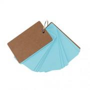Magideal 50Pcs DIY Blank Word Cards Christmas Greeting Card Memo Pads 9*5cm Blue