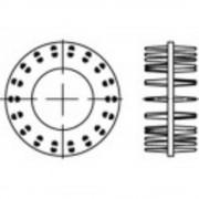 TOOLCRAFT priključci za drvo DIN 1052 GT pocinčani 25 komada