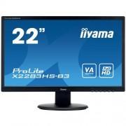 Monitor iiyama X2283HS-B3, 22'' VA, FullHD, 4ms, 250cd/m2, 3000:1, 16:9, VGA, HDMI, DP, repro