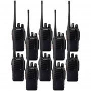 Pack 10 Radios Transmisores Walkie Talkie Baofeng 888s